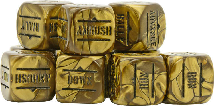 Antique Gold Order Dice